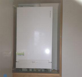 City Gas Installation of a Viessmann Boiler in a Schmidt kitchen